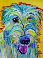Irish Wolfhound by dawgart