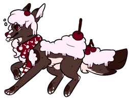 Cherry Cupcake themed canine OTA [CLOSED] by MoonstarAdoptables