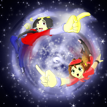 Cho and Ami Reach for the Stars by XNinjaRed