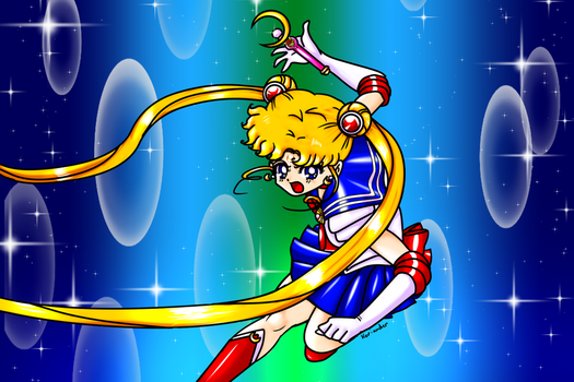 Badass Sailor Moon by KorianderBullard