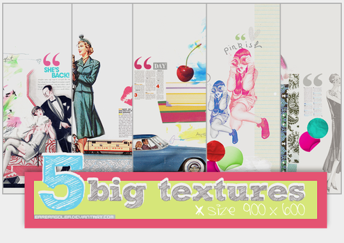5 Big Textures by BarbraGolba
