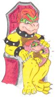 Request Vore: Bowser and Junior by KnightRayjack