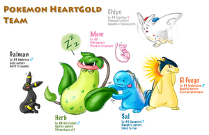Pokemon Team - HeartGold by BeckHop