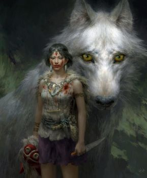 Princess Mononoke by FLOWERZZXU