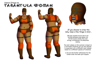 Simple Reference for Ximena as Tarantula Woman by White-Rose-Brian
