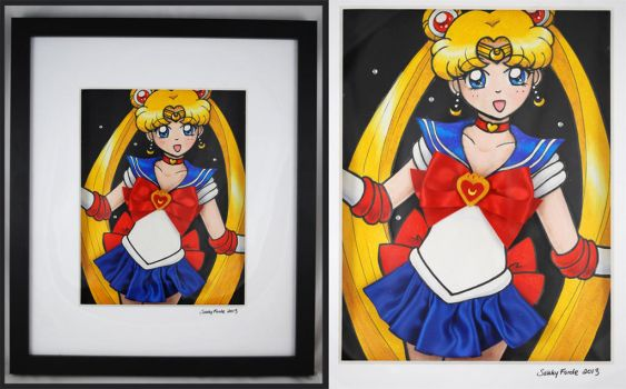 Sailor Moon - Mixed Media Experiment by sakkysa