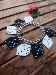 Vegas Dice +Cherries Bracelet2 by Tattooed-Gumball
