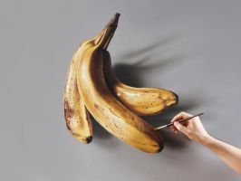 Bananas Painting by marcellobarenghi