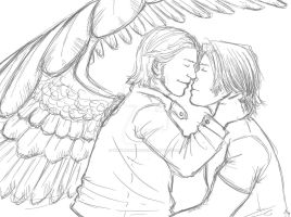 Sabriel sketch by whisperelmwood