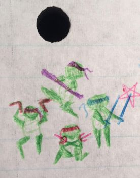 TMNT: Itty Bitty Doodly Turtles by AncientWhiteFire