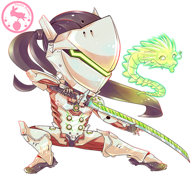 Genji Overwatch by fruitsrabbit