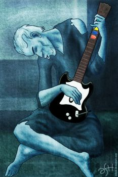 The Old Guitar Hero by ashrel