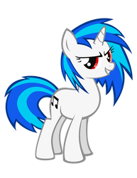 Vinyl Scratch maybe at least 10% cooler? by TellabArt