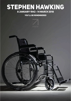 Stephen Hawking Poster by Didit Art by Didit-Art