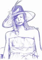 Woman With Hat 1 by GMAC06
