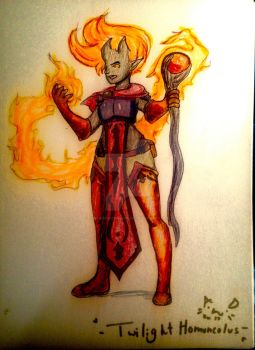 Ifrit Pyromancer by TwilightHomunculus