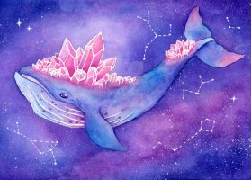 Galaxy Whale by LastivkaDiana