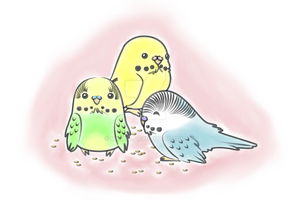 Budgies_Colored by Nashiil