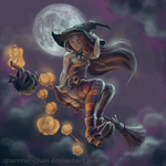 Halloween witch by sparrow-chan