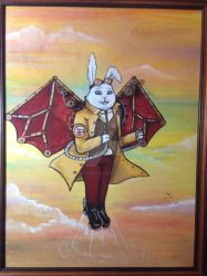 Jack Steambunny and His Flying Machine by BlossomBrooks
