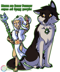 Commission: Meriam and Sherry Fuzzypaw by Atlanta-Hammy