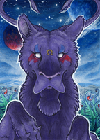 ACEO for BloodhoundOmega by Dragarta