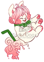 O-0458 Vanilla Frappe with Strawberry Sauce by SooshDatabase