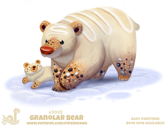 Daily Paint 2043# Granolar Bear by Cryptid-Creations
