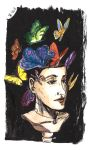 La Fille Aux Papillons / Girl with the butterflies by jainas