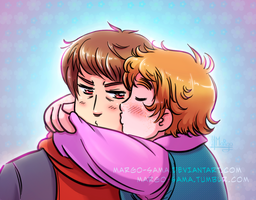 [APH][2P] Alexander and Oliver by Margo-sama