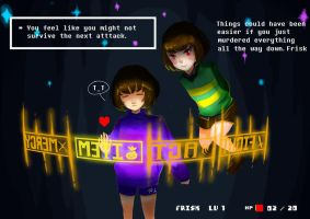Chara and Frisk by Greywalker2