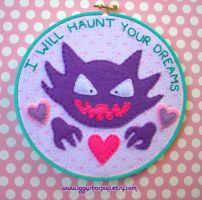 I Will Haunt Your Dreams Haunter Embroidery by iggystarpup