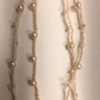Faux Pearl Crocheted Necklace by MindfullyArtistic