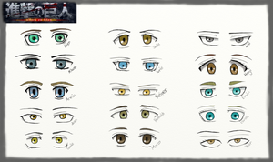 Attack on Titan- Character Eyes by Engracia-Penthea