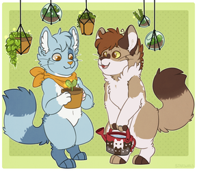 Cats And Plants by Star-Swirls