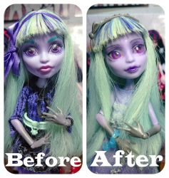 Before After Twyla Boogeyman Repainting by yelyyley