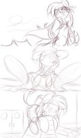 8-9-13 Assorted Sketches by DShou