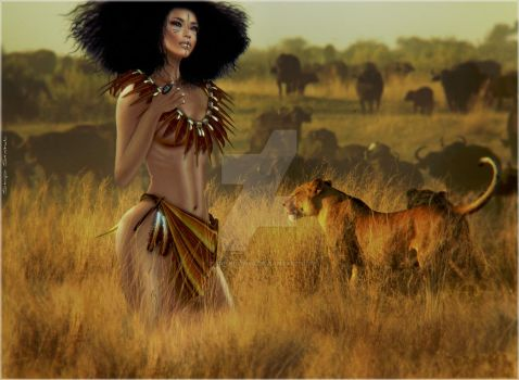 Imani~The Hunt by PurpleCow68