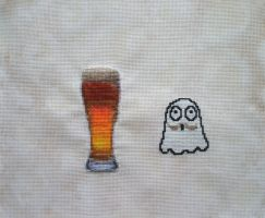 Beer Ghost in MOvember by Magical525