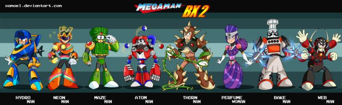 MEGAMAN BX2 ROBOT MASTERS by XAMOEL