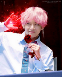 BTS' Taehyung as a magician by DamageDoneIsForever