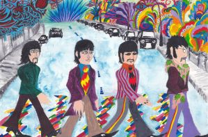 Psychedelic Abbey Road by Nazgul666