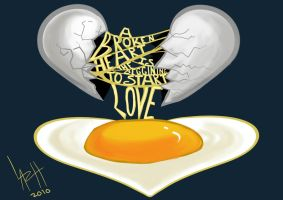 Borken heart egg by LaRhsReBirTh