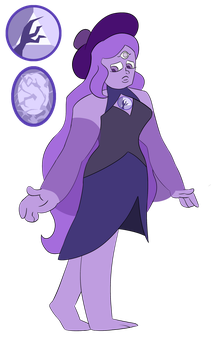 I commissioned - Twilight Mountain Amethyst by IlithyiaEidsvag
