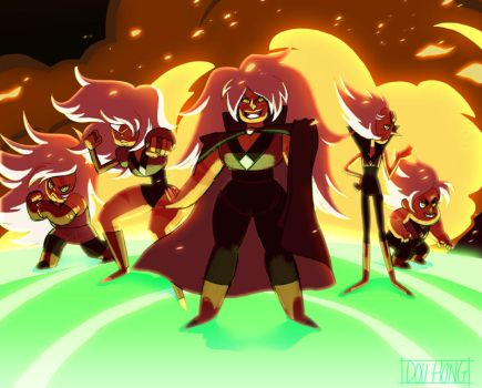 Steven Universe: Jasper and the Jaspers! by dou-hong