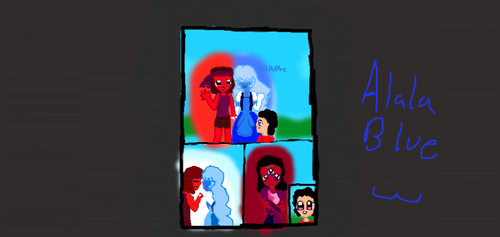 ruby and sapphire's love coloured by AlalaBlue