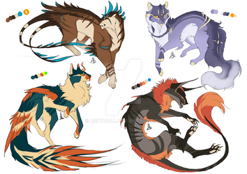 Adoptables aution (CLOSED) 0/4 by ashtrall