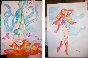 Heroes Con sketches by jFury