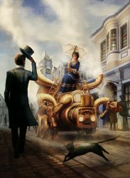 The Esteemed Steambot by Risachantag
