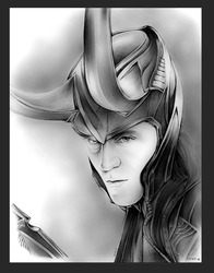 Tom Hiddleston as Loki by gregchapin